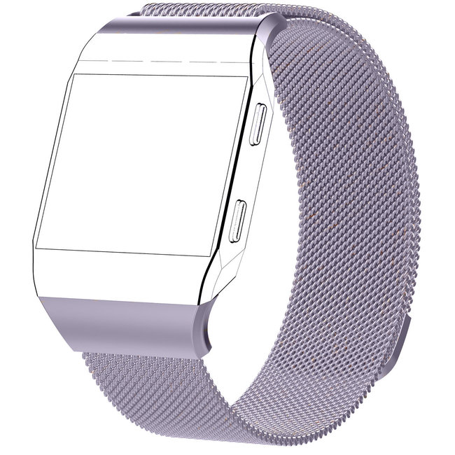 Merk 123watches Fitbit Ionic milanese band - lavendel