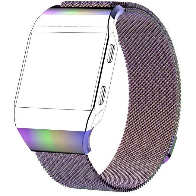 Merk 123watches Fitbit Ionic milanese band - colorful