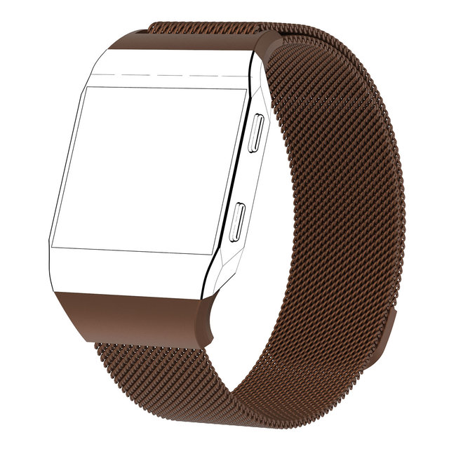Merk 123watches Fitbit Ionic milanese band - bruin