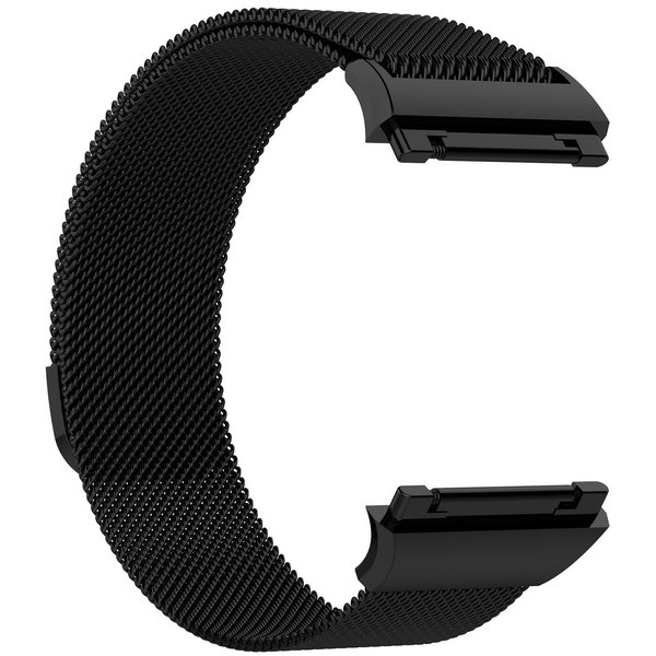 123Watches Fitbit Ionic milanese band - zwart
