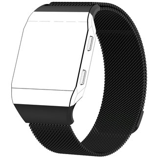Merk 123watches Fitbit Ionic milanese band - zwart