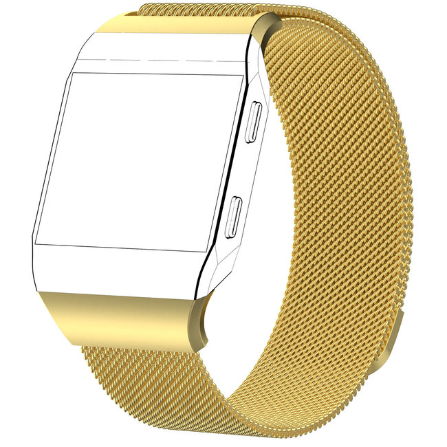 Merk 123watches Fitbit Ionic milanese band - goud