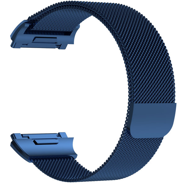 123Watches.nl Fitbit Ionic milanese band - blue