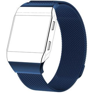 Merk 123watches Fitbit Ionic milanese band - blauw