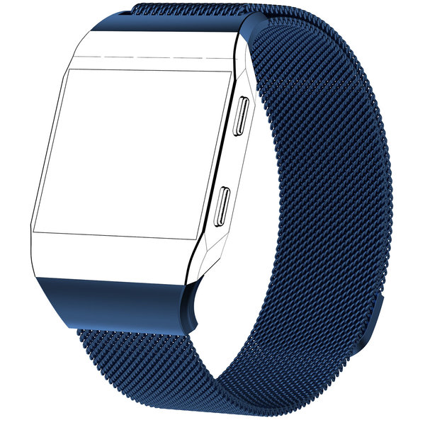 123Watches Fitbit Ionic milanese band - blauw