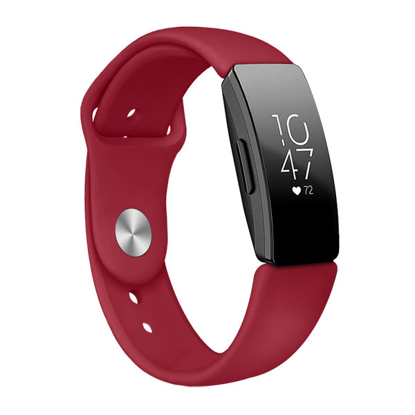 123Watches.nl Fitbit Inspire Sport Silikonband - rot
