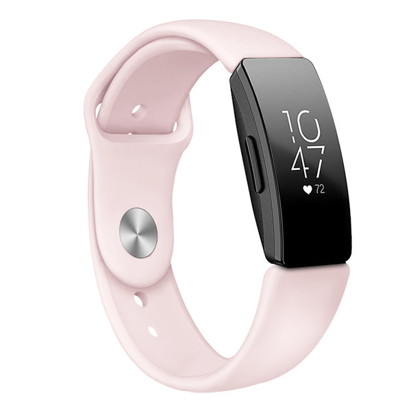 123Watches Fitbit Inspire sport silicone band - pink sand
