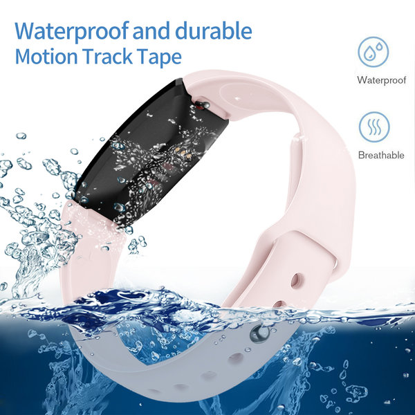 123Watches.nl Fitbit Inspire sport silicone band - pink sand