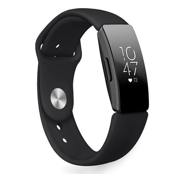 123Watches.nl Fitbit Inspire sport silicone bande - noir