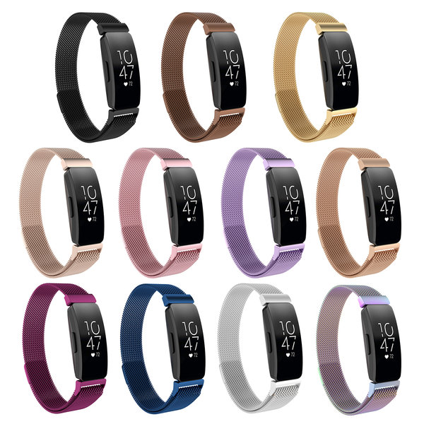 123Watches.nl Fitbit Inspire milanese band - braun