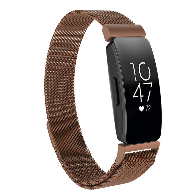 Fitbit Inspire milanese band - bruin