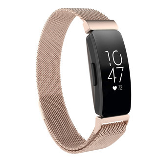 Merk 123watches Fitbit Inspire milanese band - champagne
