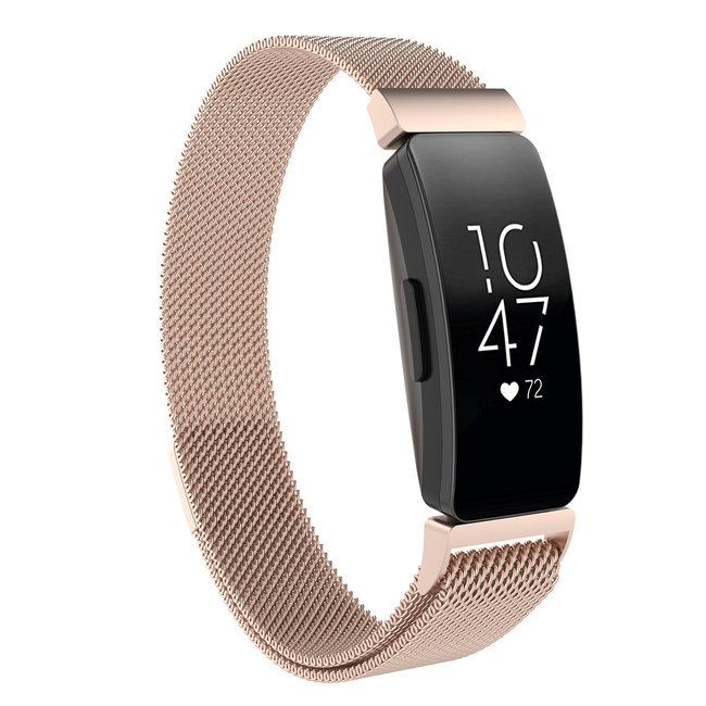 Fitbit Inspire milanese band - champagne