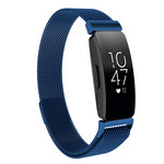 123Watches.nl Fitbit Inspire milanese band - bleu