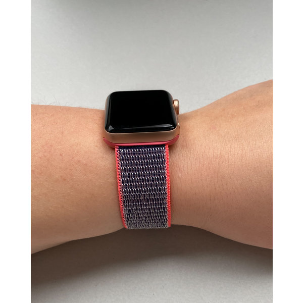 123Watches Apple watch nylon sport loop band - electric roze