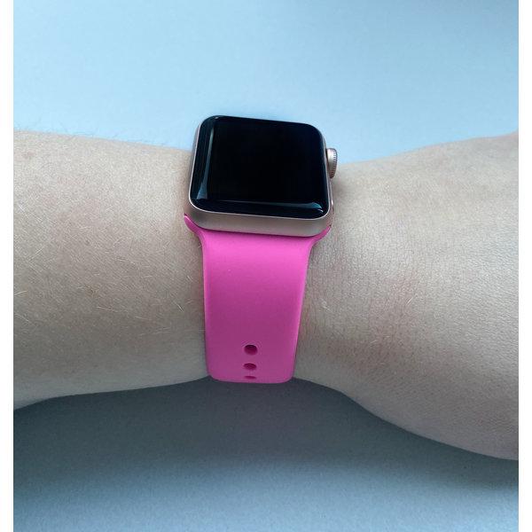 123Watches.nl Apple watch sport band - felroze