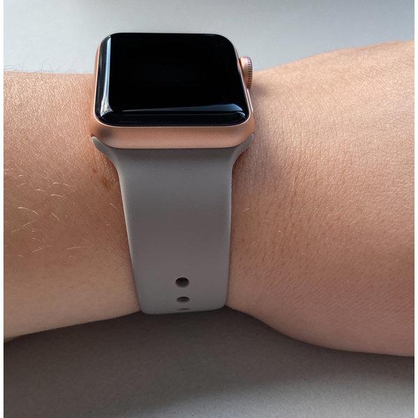 123Watches Apple watch sport band - kiezelsteen