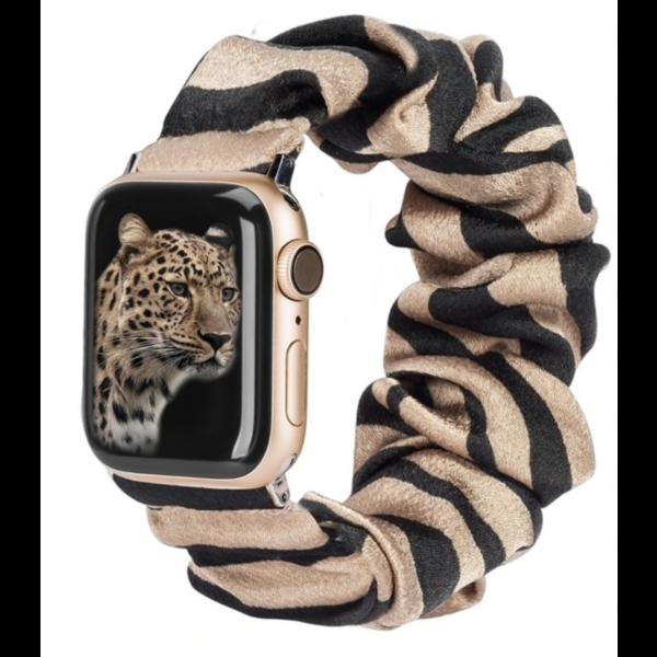 123Watches Apple Watch Scrunchie Band - zèbre