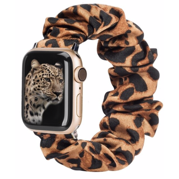 123Watches Apple watch scrunchie band - panther brown