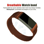123Watches Fitbit charge 3 & 4 milanese band - brown