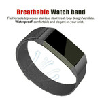 123Watches Fitbit charge 3 & 4 milanese band - pistolet noir