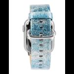 123Watches Apple watch cuir paillettes bande - bleu