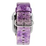 123Watches Apple watch cuir paillettes bande - violet