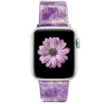 123Watches Apple Watch Leder Glitzer Riemen - lila