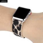 123Watches Apple watch leopard band - roze