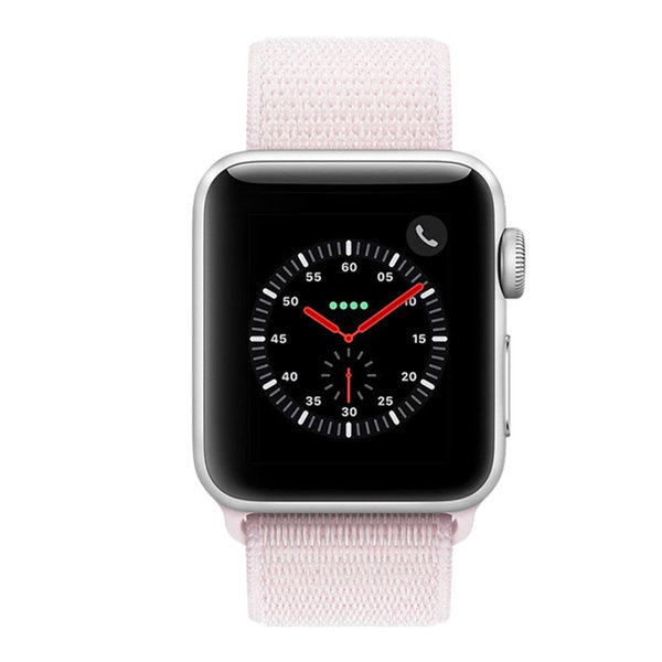 123Watches Apple watch nylon sport loop band - roze