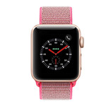 123Watches Apple watch nylon sport loop band - rose rood