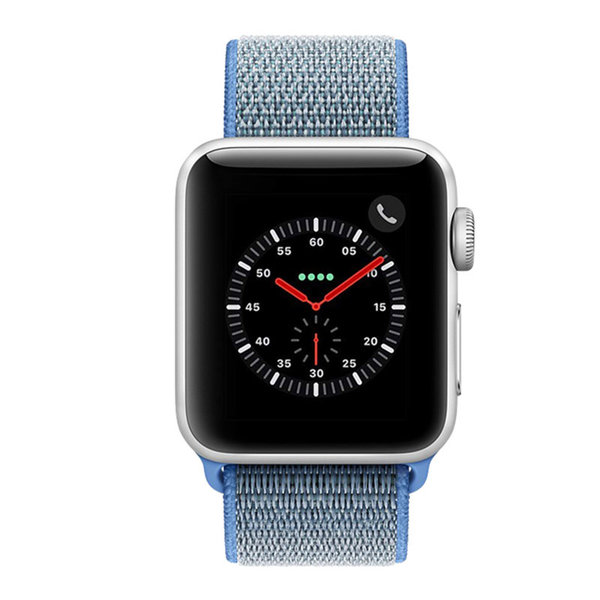 123Watches Apple watch nylon sport loop band - blauw