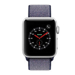 123Watches Apple watch nylon sport loop band -  bleu nuit