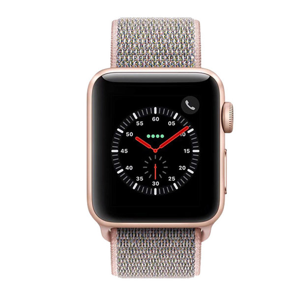 123Watches Apple watch nylon sport loop band - sable rose