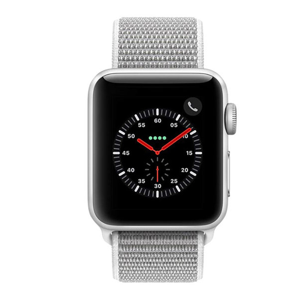 123Watches Apple watch nylon sport loop band - coquillage