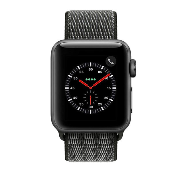 123Watches Apple watch nylon sport loop band - donker olijf
