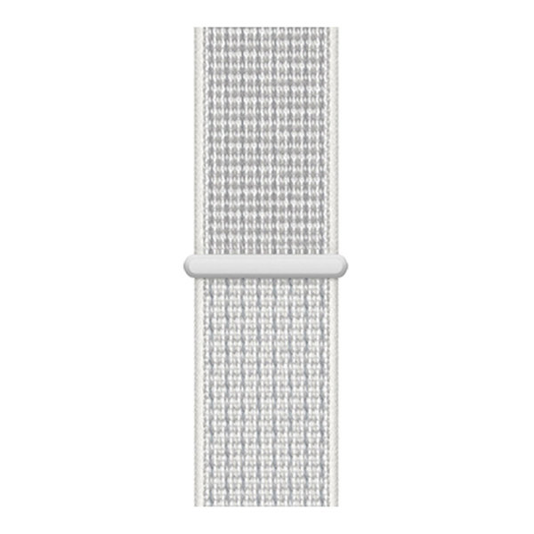 123Watches Apple watch nylon sport loop band - blanc sommet