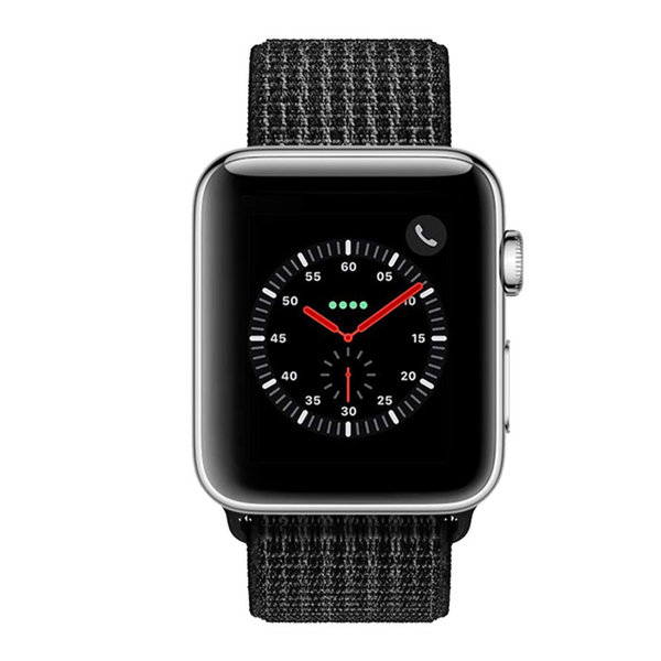 123Watches Apple watch nylon sport loop band - reflector zwart