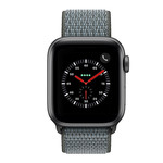 123Watches Apple watch nylon sport loop band - storm grijs
