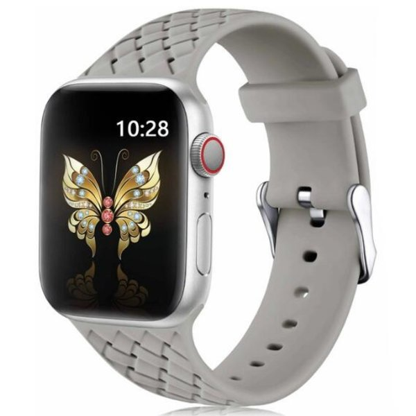123Watches Apple watch woven silicone band - grijs
