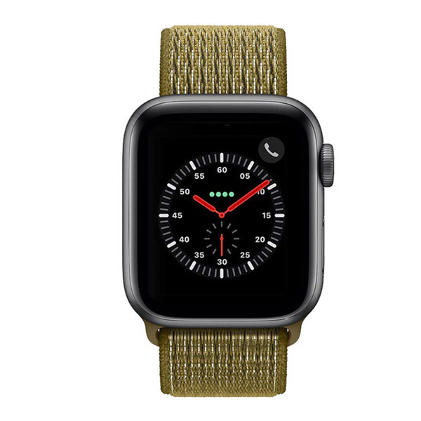 123Watches Apple watch nylon sport loop band - olive flak