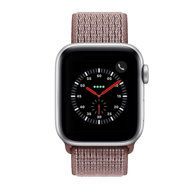 123Watches Apple watch nylon sport loop band - mauve fumé