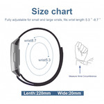 123Watches Fitbit Charge 3 & 4 leren glitter band - zwart