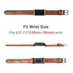 123Watches Fitbit charge 3 & 4 genuine leren band - lichtbruin