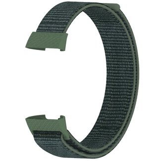 Merk 123watches Fitbit charge 3 & 4 nylon sport band - army green