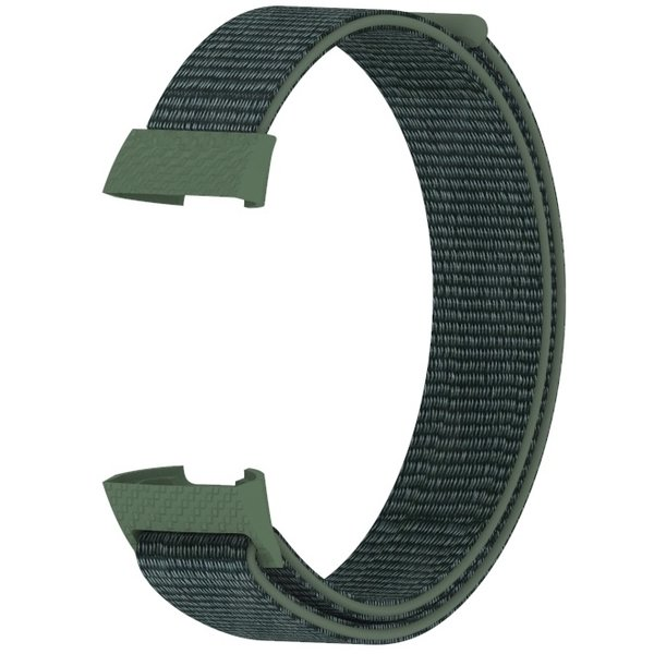 123Watches Fitbit charge 3 & 4 nylon sport band - leger groen