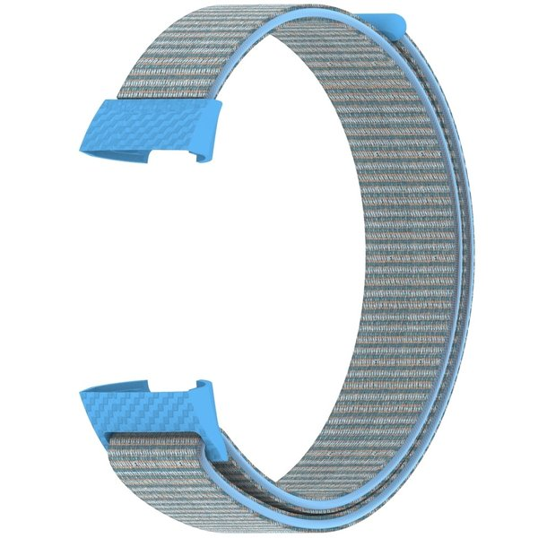 123Watches Fitbit charge 3 & 4 nylon sport band - cornflower