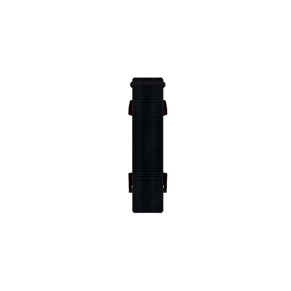 123Watches Fitbit charge 3 & 4 nylon sport band - donkerzwart