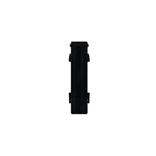 123Watches Fitbit charge 3 & 4 nylon sport band - noir foncé