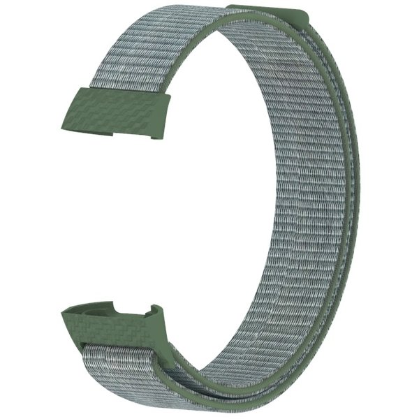123Watches Fitbit charge 3 & 4 nylon sport band - olive foncé